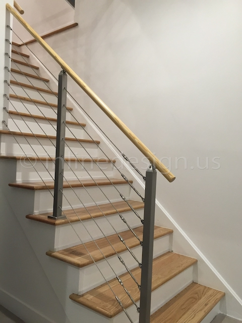 stainless steel cable railing indoor