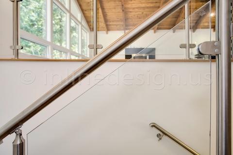 stainless steel glass railing wall bracket