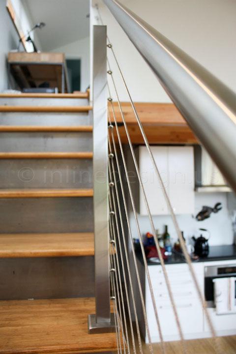 cable railing kitchen