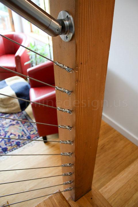 cable railing wood