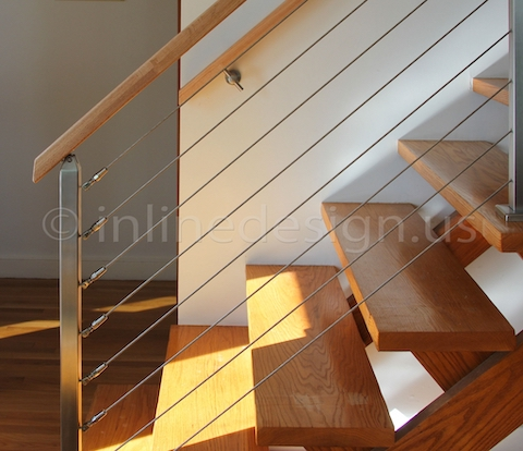 stainless steel cable railing stairs base cover