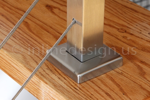 stainless steel cable railing stairs landing