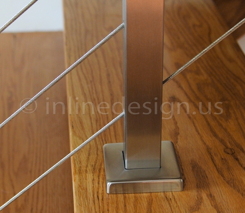 stainless steel cable railing stairs terminal