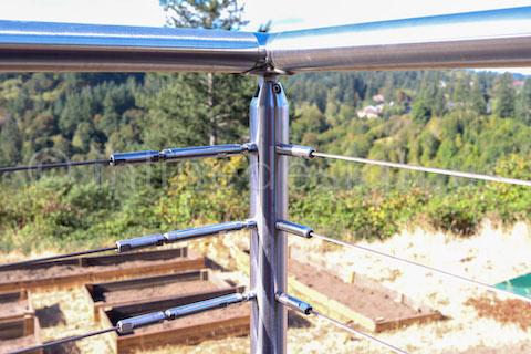 closeup post cable