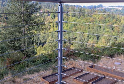 corner post railing