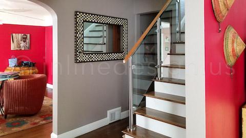 entry railing stairway