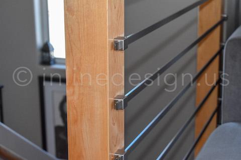 bar railing closeup