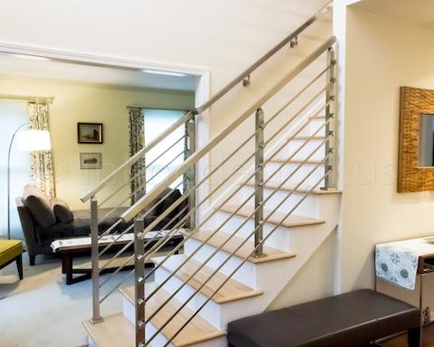 side stairways railing