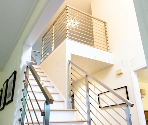 stairs bar guardrail