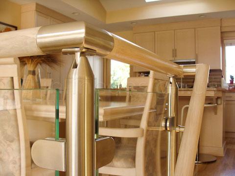 glass railing indoor