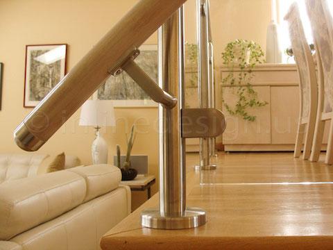 glass railing living room