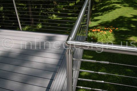 Corner Deck Railing Cable