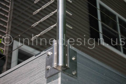 Corner Fascia Round Post Mount