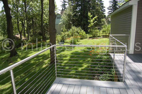 Deck Cable Railing Green