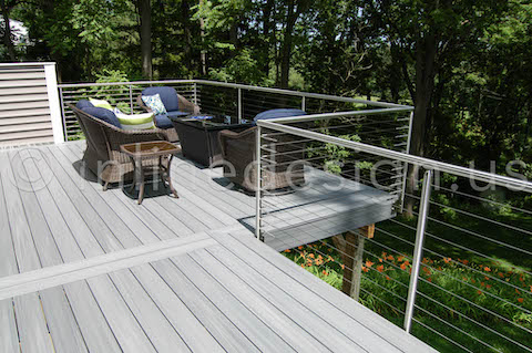 Patio Cable Railing Round Profile