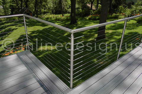 Round Cable Railing Outside