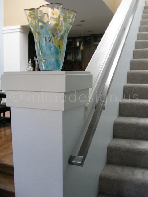 return to wall handrail