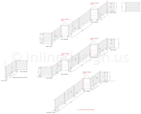 Mike cable railing multi levels