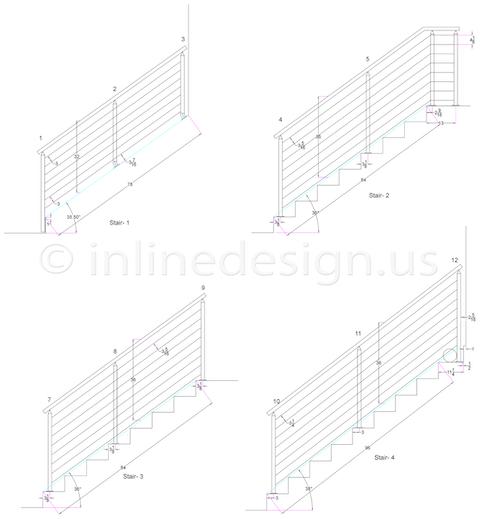 Rene square cable railing