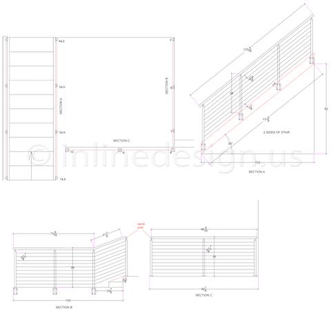Stephen cable railing fascia mount