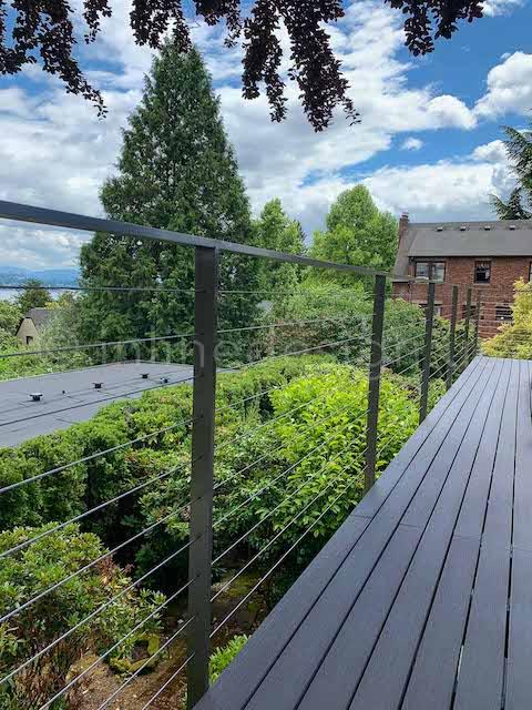 arcadia cable railing deck