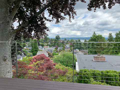 balcony deck cable railing