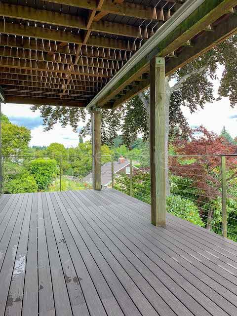 cable railing arcadia deck balcony