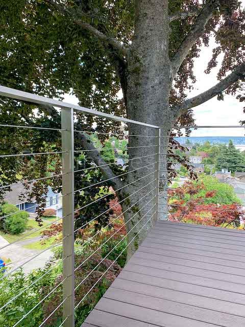 cable railing corner balcony