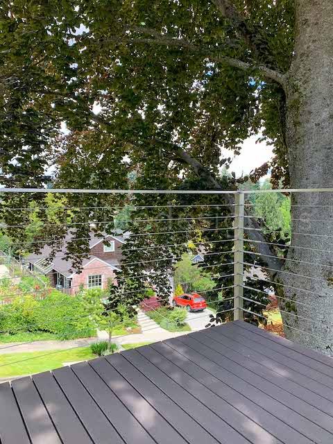 cable railing corner deck