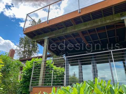 cable railing decks double