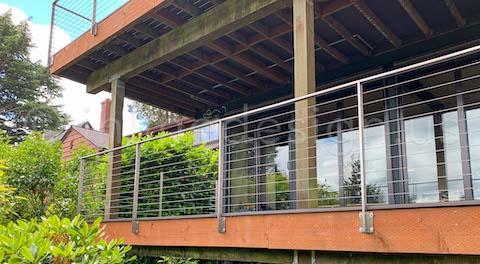 cable railing double decks