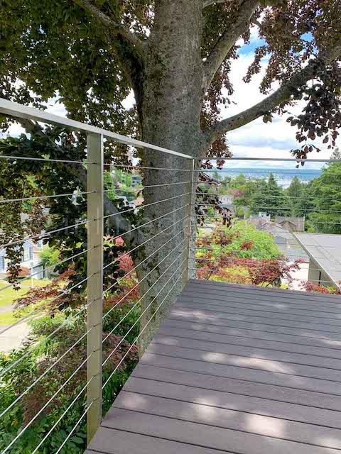 cable railing full corner