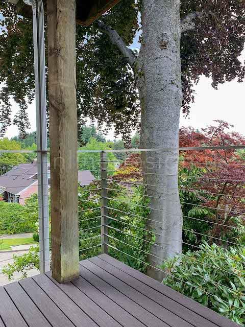 corner balcony cable railing
