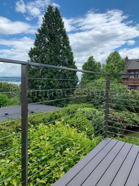 corner cable railing