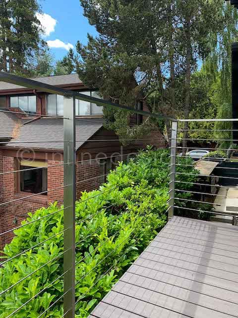 deck corner railing arcadia