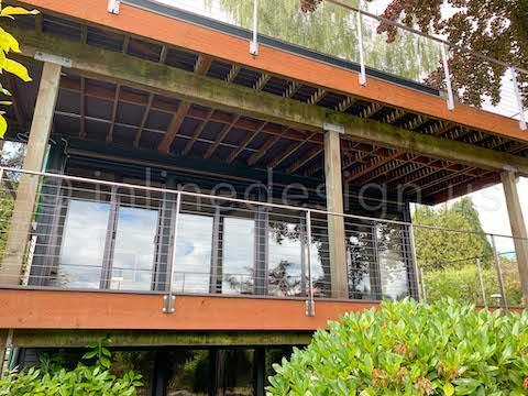double deck exterior cable railing