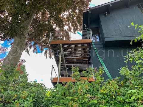exterior railing decks arcadia