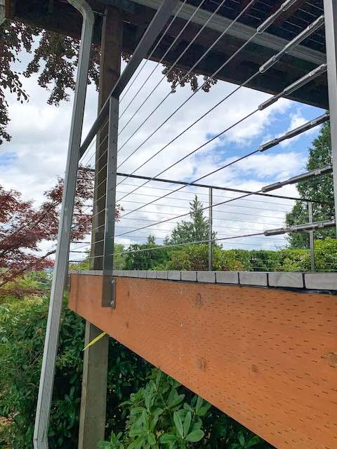 outside cable railing arcadia