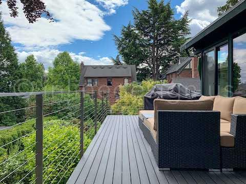 patio cable railing exterior