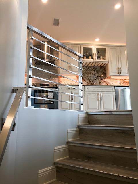 bar railing kitchen