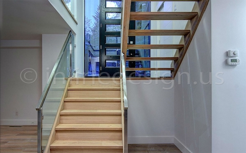 stainless steel glass railing entry