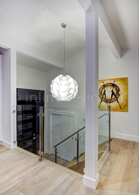 stainless steel glass railing white