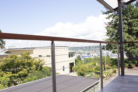 stainless steel cable flag railing seattle round