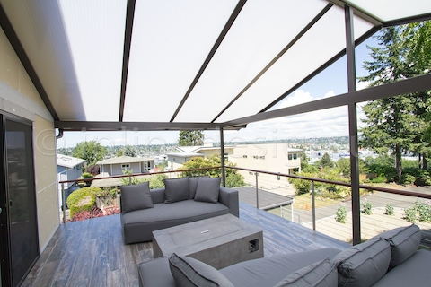 stainless steel cable railing seattle round balcony