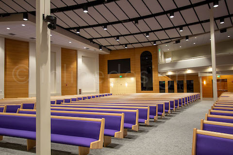 church seating left