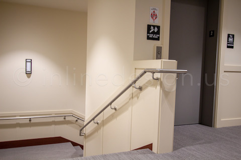 commercial return to wall handrail
