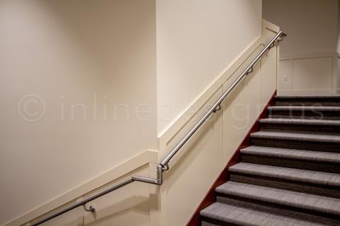 sharp corner round handrail