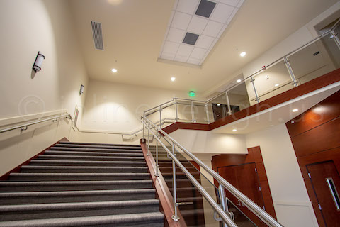 stainless steel glass railing for commercial projects
