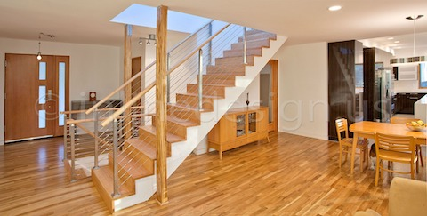 stainless steel railing cable stairs architect