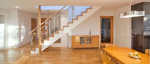 stainless steel railing cable stairs end cap